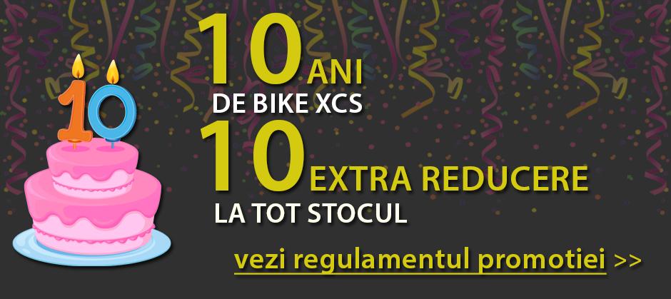 10 ani. 10% reducere. 10X10% calitate: BIKE XCS