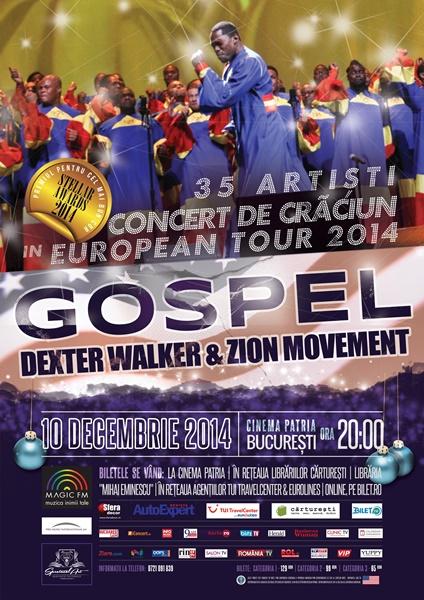 """Concert extraordinar de muzica gospel """"Celebrate Christmas"""", 10 decembrie 2014, Bucuresti"""