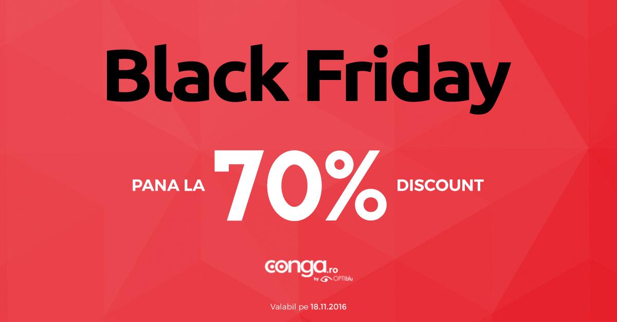 Black Friday 2016 la Conga.ro – pana la 70% reducere la ochelari de soare, rame de vedere, lentile de contact si accesorii