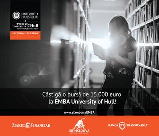 Bursa de 15.000 euro la EMBA University of Hull