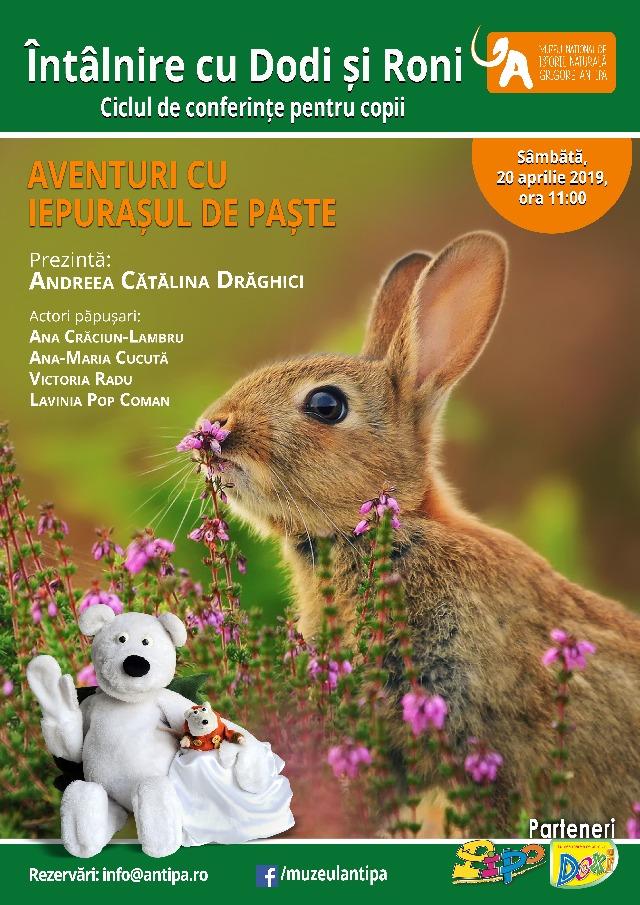 """Muzeul Antipa va invita la """"Aventuri cu Iepurasul de Paste"""" sambata, 20 aprilie incepand cu ora 11:00"""
