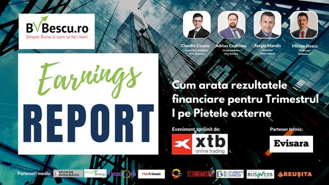 Earnings Report 2021- Primul eveniment din Romania dedicat rezultatelor financiare pe Pietele externe