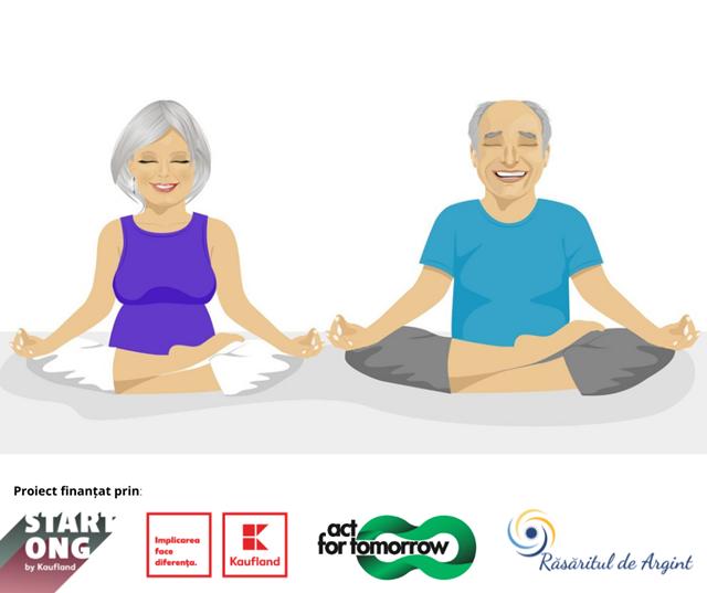 200 de seniori inscrisi in programul de yoga GO YOGA 55+